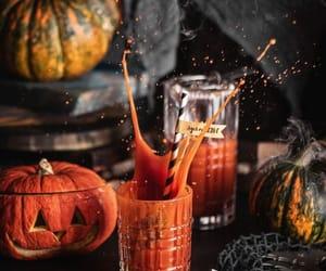 autumn, pumpkin juice, and fall image