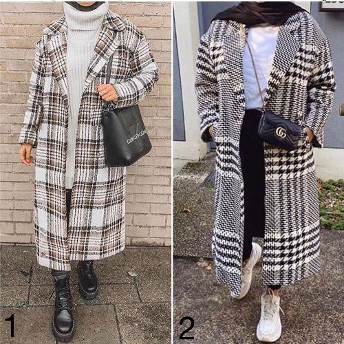 checked coat image