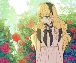 anime girl, rose, and athanasia image