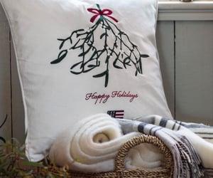 basket, blanket, and christmas image