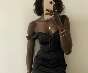 black, dress, and fancy image