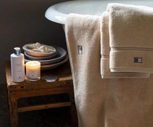 bathroom, bathtub, and candle image