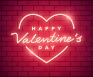 neon, heart, and valentine image