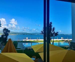 holiday, hotel, and sea image