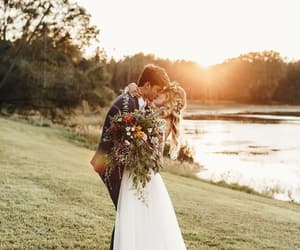 couple, lovely, and nature image