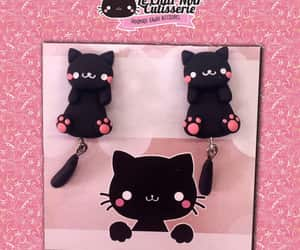 animals, black cat, and charms image