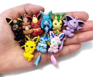 charms, eevee, and etsy image