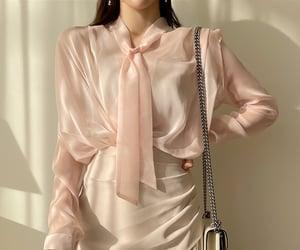 blouse, kpop fashion, and asian fashion image
