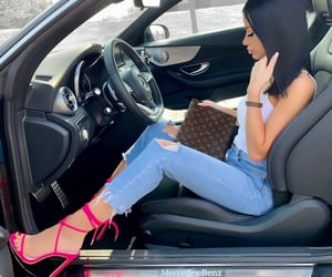 barbie, benz, and luxurious image
