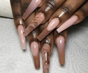 brown, nails, and Nude image