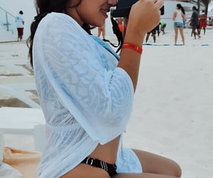 beach, playa, and bikini image