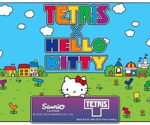 hello kitty, rainbow, and sanrio image