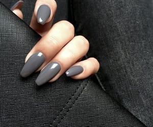 nails, grey, and photography image