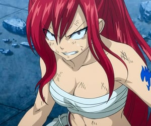 erza, fairy tail, and anime image