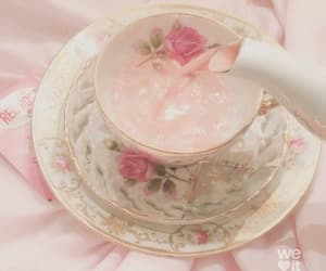 pink, tea, and rose image