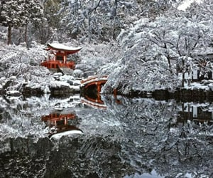 japan, travel, and winter image