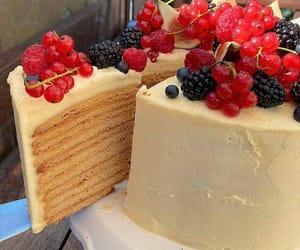 cake, food, and berries image