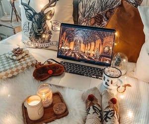 candle, holidays, and christmas image