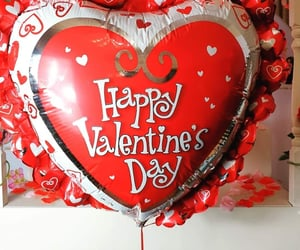 balloon, valentines, and day image