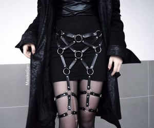 black, garters, and goth image