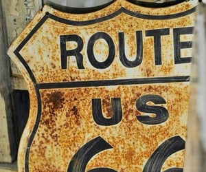 route 66, vintage, and sign image