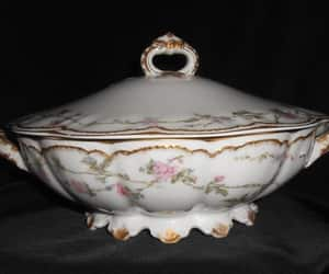 etsy, fine china, and serving bowl image