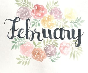 february, flowers, and months image