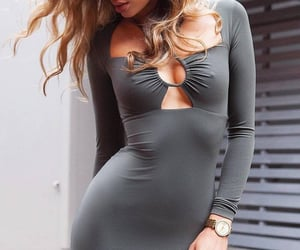 blonde, dress, and hips image
