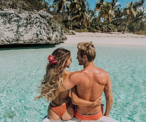 couple, tropical, and relantionship image