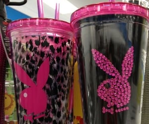 Playboy, pink, and cups image