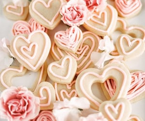 baby pink, food, and heart image