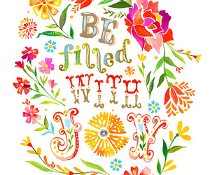 joy, quote, and flowers image