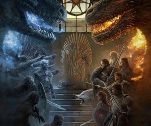 arya stark, jon snow, and cersei lannister image
