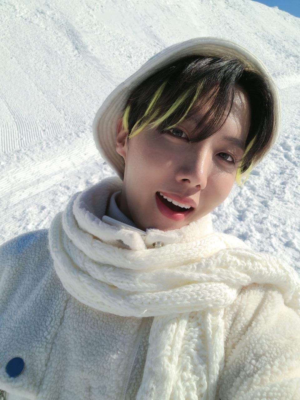 kpop, snow, and hobi image