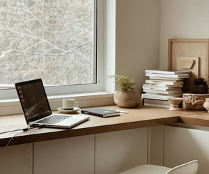 interior, office, and workspace image