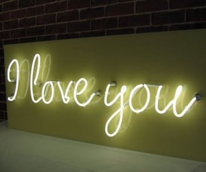 love, I Love You, and neon image