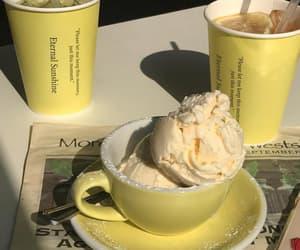 yellow, ice cream, and aesthetic image