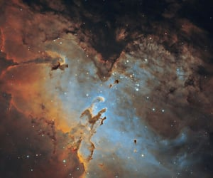 galaxy, space, and clouds image