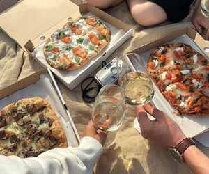 pizza, food, and picnic image