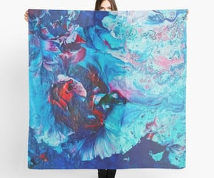 abstract art, fashion, and scarf image