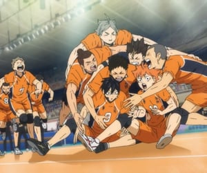 anime, karasuno, and haikyuu image