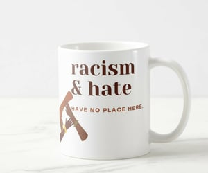 anti racism, stop racism, and say no to racism image