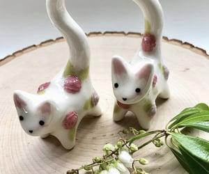 adorable, cat, and ceramics image