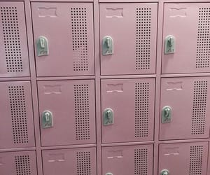 pink, aesthetic, and locker image