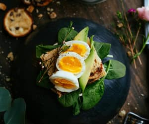 food, cooking, and eggs image