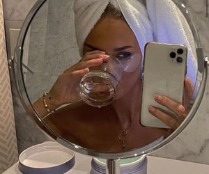 bath, drink, and girl image