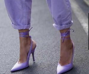 fashion, heels, and purple image