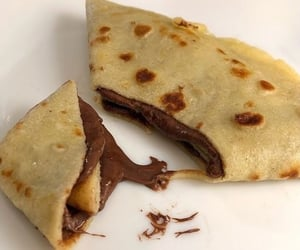 crepes, nutella, and yummy image