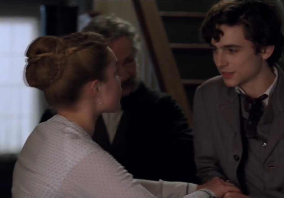 little women, amy march, and timothee chalamet image