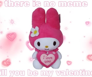 hearts, meme, and my melody image